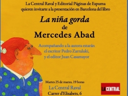 Mercedes Abad presents 'La niña gorda' in Barcelona, Madrid and Seville
